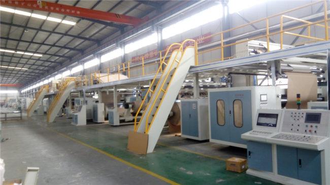 corrugated cardboard manufacturing machine