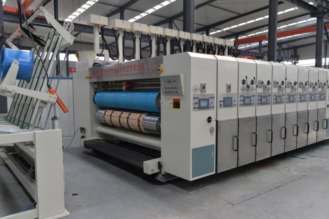 Automatic rotary die cutting machine for corrugated carton box