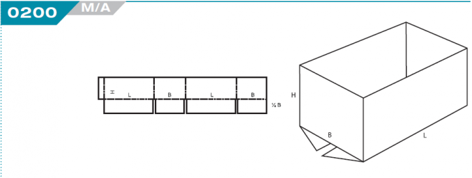0200 Half Slotted Container (HSC)