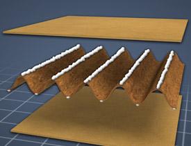 corrugated fiber board