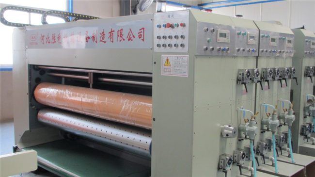 Die cutting machine of automatic flexo folder gluer